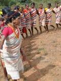Village women form a circle Stock Photos