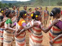 Village women form a circle Stock Photography