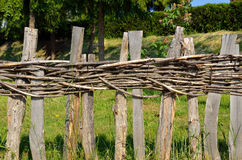Village wooden fence Royalty Free Stock Photography