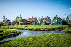 Village with wooden houses Royalty Free Stock Photo