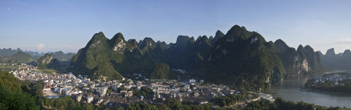 The village of xingping,guangxi province Royalty Free Stock Photos