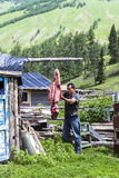 A Village in Xinjiang Stock Images