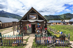 A Village in Xinjiang Royalty Free Stock Photo
