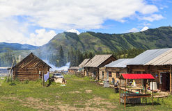 A Village in Xinjiang Royalty Free Stock Images
