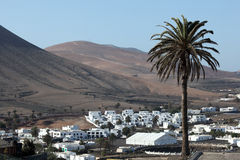 Village Yaiza, Lanzarote Stock Photo