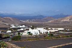 Village of Yaiza in volcanic area Royalty Free Stock Photos