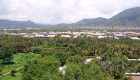 Village Yalong Bay, Hainan Island, China Royalty Free Stock Image