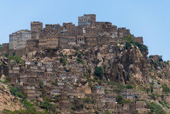 Village in Yemen. View of the Al-Hajarayn village in Yemen Stock Images