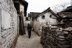 Village - Yue Zhai. Quaint stone house in a village in Yue Zhai Stock Photography