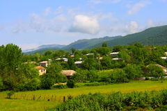 A village in ze Ismailli region of Azerbaijan the spring Royalty Free Stock Photo