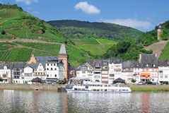 Village Zell,River Mosel,Germany Royalty Free Stock Photos