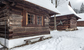 Village Zuberec, Slovakia. Open-air museum at Zuberec, Slovakia royalty free stock photography