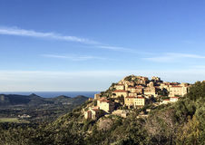 Villagein Corsica Stock Afbeelding