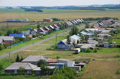 The villagein Russia. View from above Royalty Free Stock Image