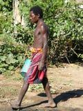 Villageois indigène malgache Photos stock