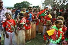 Villageois tribals du Vanuatu Images stock