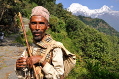 Villager in The Himalayas royalty free stock image