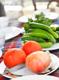 Villager's_table_01 Stock Image