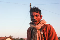 Villager from some tiny village of Rajasthan, India. Royalty Free Stock Photos
