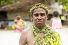 Villager woman Solomon Islands Royalty Free Stock Photography