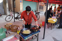 Villagers culinary to celebrate chenghuang chenghuang ( city god ) day Royalty Free Stock Images