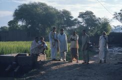 Villagers, at early morning, Pakistan. Royalty Free Stock Photography