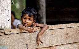 Villagers in Kampuchea Royalty Free Stock Images