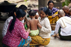 Villagers in Kampuchea Royalty Free Stock Photography