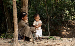 Villagers in Kampuchea Stock Photos
