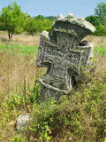 Villagers' orthodox holy cross in the country near by the village Royalty Free Stock Photography