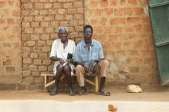 Villagers in Uganda Royalty Free Stock Photography