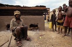 Villagers in Uganda Stock Photo