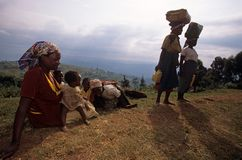 Villagers in Uganda Stock Images