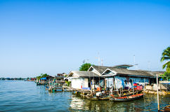 Villages along the river Royalty Free Stock Image