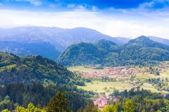 Villages in Alp mountains Royalty Free Stock Photo