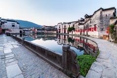 Villages antiques chinois dans le début de la matinée Photo libre de droits