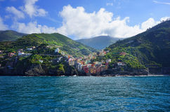 Villages on coast of La Spezia province in Liguria, Italy Stock Images