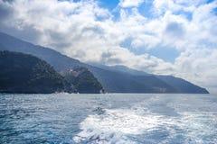 Villages on coast of La Spezia Stock Images