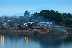 Villages, countryside, rivers Stock Image