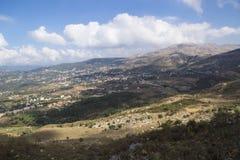 Villages dans les montagnes de la vallée de la Bekaa, Liban image libre de droits