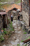 Villages de montagne antiques en Giorgia Images libres de droits