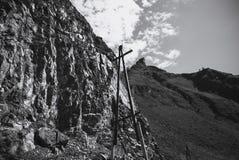 Villages de montagne d'électrification altai Russie Image libre de droits