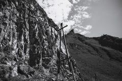 Villages de montagne d'électrification altai Russie Photos libres de droits