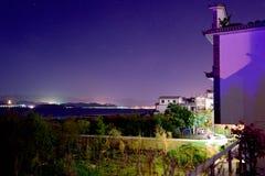 Villages de nuit Photos libres de droits