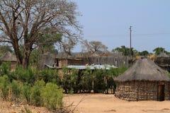 Villages et pauvreté en Namibie photographie stock