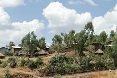 Villages and farms in Ethiopia Stock Photo
