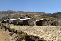 Villages and farms in Ethiopia Stock Photos