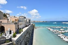 Villages of Italy: Otranto, sul mare Adriatico- royalty free stock photos