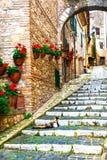 Villages médiévaux traditionnels de l'Italie, Casperia image stock