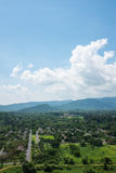 Villages in mountain hill of Thailand Stock Photo